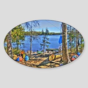 basecamp full Sticker (Oval)