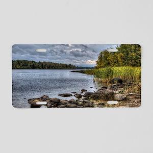 Fall Lake full Aluminum License Plate