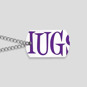 purple Hugs Dog Tags