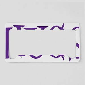 purple Hugs License Plate Holder