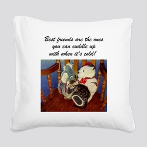 rocking with friends saying Square Canvas Pillow