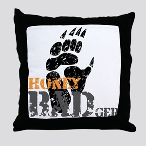 honey-badger-1 Throw Pillow