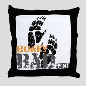 honey-badger-2 Throw Pillow