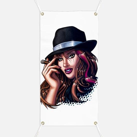Smoking Gangster Girl Banner