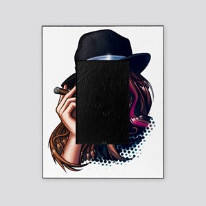 Smoking Gangster Girl Picture Frame