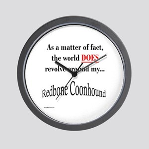 Coonhound World Wall Clock