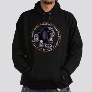 Panther v2_1st-505th - White Hoodie (dark)