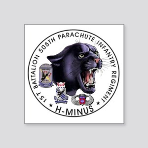 "Panther v2_1st-505th Square Sticker 3"" x 3"""