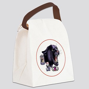 Panther v2_3rd-505th-White Canvas Lunch Bag