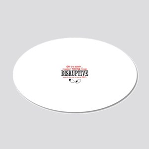 Disruptive_Red 20x12 Oval Wall Decal