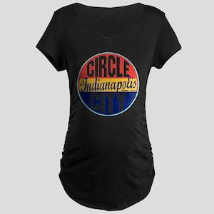 Indianapolis Vintage Label  Maternity Dark T-Shirt