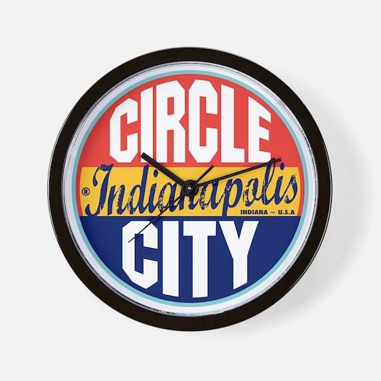 Indianapolis Vintage Label W Wall Clock