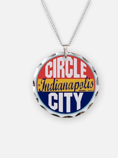 Indianapolis Vintage Label W Necklace