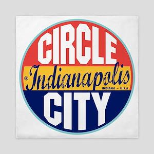 Indianapolis Vintage Label W Queen Duvet