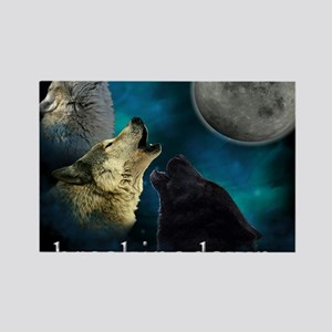 Twilight Breakingdawn Moon Wolfs  Rectangle Magnet