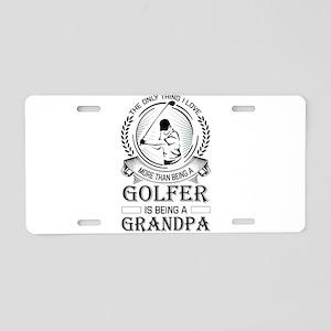 Golfer Grandpa Aluminum License Plate