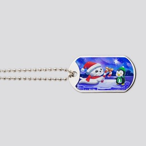 holiday_seal_and_penguin_colver Dog Tags
