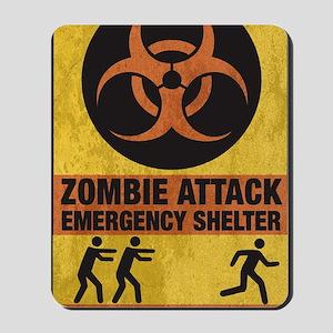 Zombie SHERLTER FINAL FLAT Mousepad