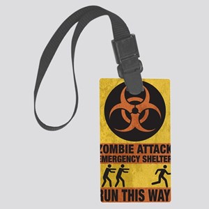Zombie SHERLTER FINAL FLAT Large Luggage Tag