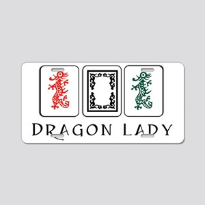 dragon lady coin purse fina Aluminum License Plate