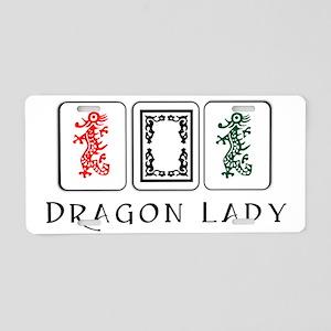 dragon lady coin purse fina Aluminum License Plate