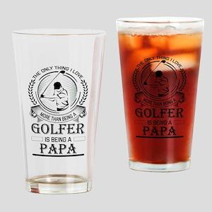 Golfer Papa Drinking Glass