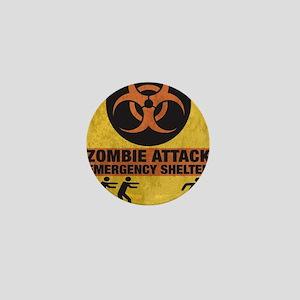 Zombie SHERLTER FINALbig3FLAT Mini Button