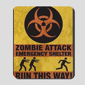 Zombie SHERLTER FINALbig3FLAT Mousepad