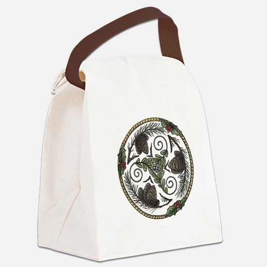 Mistletoe and Pine Trisk 2 Canvas Lunch Bag