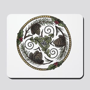 Mistletoe and Pine Trisk 2 Mousepad