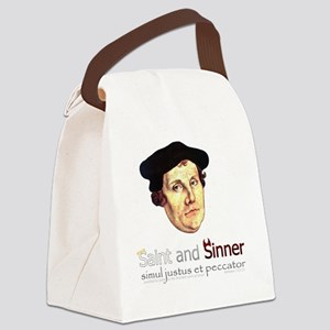 Saint and Sinner Canvas Lunch Bag