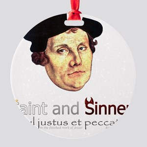 Saint and Sinner Round Ornament