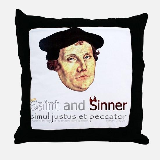 Saint and Sinner Throw Pillow