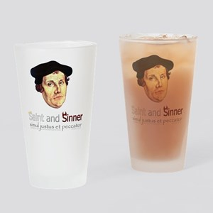 Saint and Sinner Drinking Glass