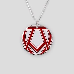 dexter-alpha-omega-symbol Necklace Circle Charm