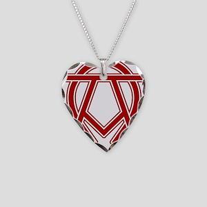 dexter-alpha-omega-symbol Necklace Heart Charm