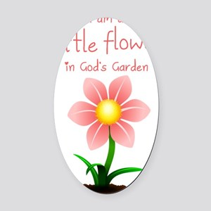 LittleFlower Oval Car Magnet