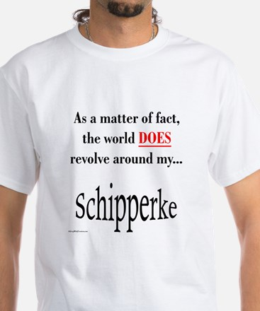 Schipperke World White T-Shirt