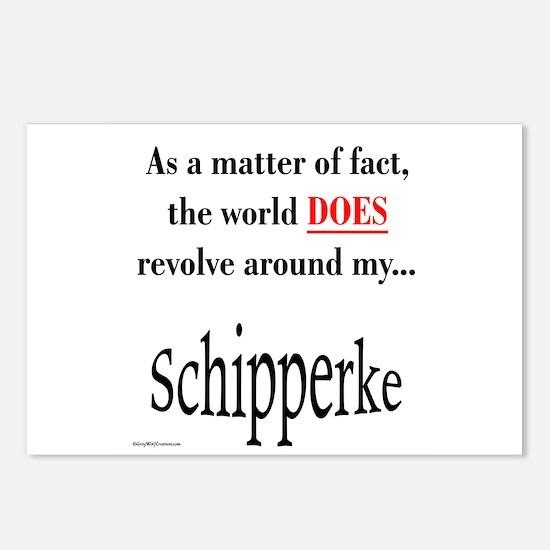Schipperke World Postcards (Package of 8)