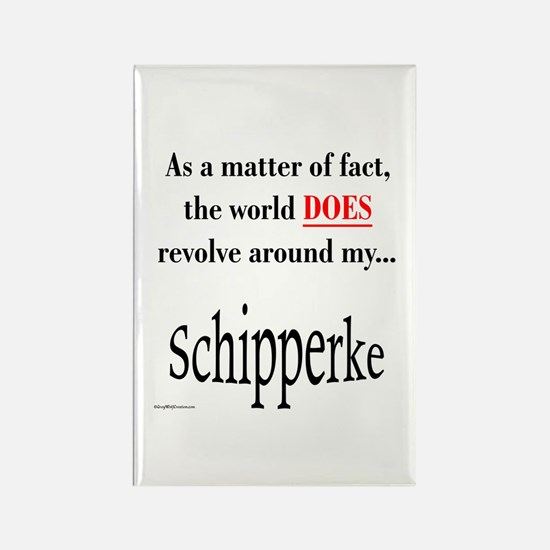Schipperke World Rectangle Magnet
