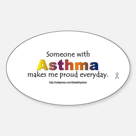 Asthma Pride Oval Stickers