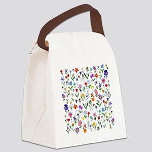 htlc flowers field Canvas Lunch Bag