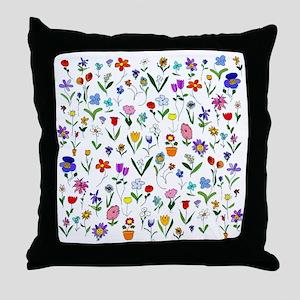 htlc flowers field Throw Pillow