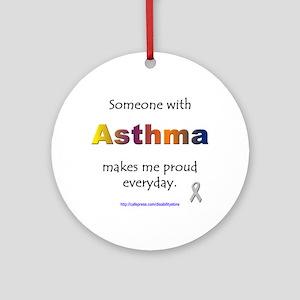 Asthma Pride Ornament (Round)