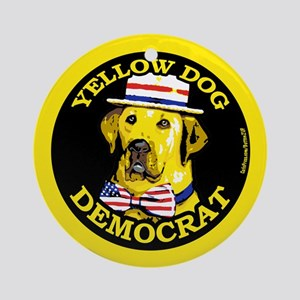 New Yellow Dog Democrat Ornament (Round)