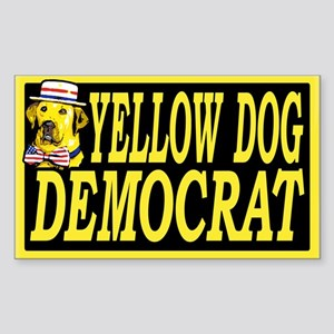 New Yellow Dog Democrat Rectangle Sticker