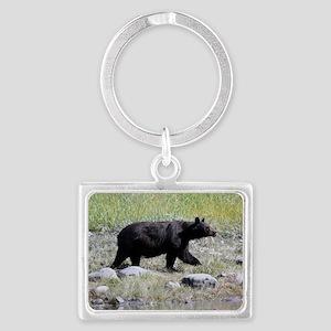 Alaska Black Bear Landscape Keychain