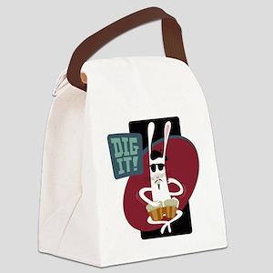 NSbeatnikbunny Canvas Lunch Bag