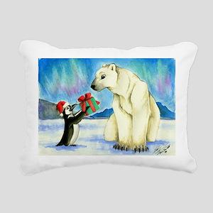 XmasCard Rectangular Canvas Pillow