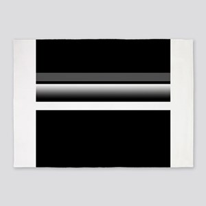 Team Colors2...Black,gray and white 5'x7'Area Rug